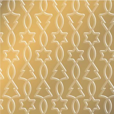 Vloeipapier Trees & stars goud