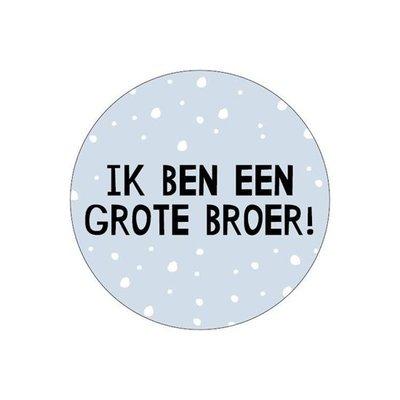 Sticker Ik ben grote broer! blauw/zwart