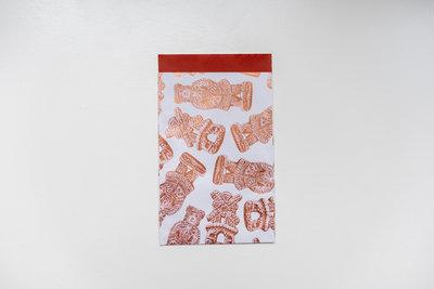 Cadeauzakjes Speculaas wit/brons/brique 12 x 19