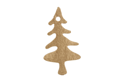 Cadeaulabels boom (hout) goud