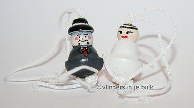 Gelukspoppetje Bruidspaar klein