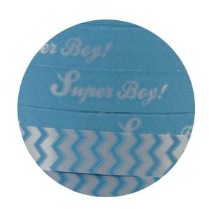 Krullint Super boy! Baby blue