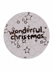 Sticker wit/goud 'Wonderful Christmas'