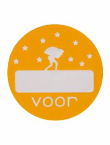 Sticker Pietje Voor... Geel