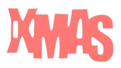 Cadeaulabel X-mas neon oranje