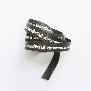 Krullint Wonderful Christmas zwart