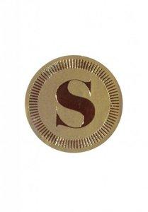 Sticker Sinterklaas goud