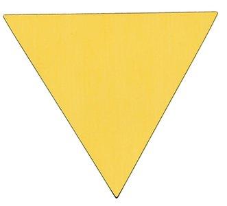 Sticker driehoek goud