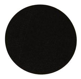 Sticker rond zwart