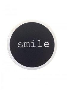 Sticker Smile zwart/wit