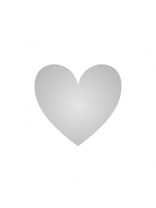 Sticker hart zilver
