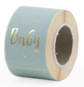Stickers Welcome baby Baby mint