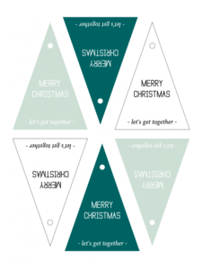 Cadeaulabels Merry Christmas assorti