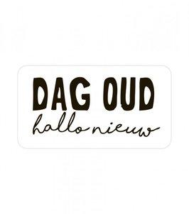 Sticker 'Dag oud, hallo nieuw'
