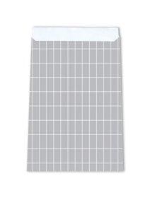 Cadeauzakjes Grid grey 17 x 25