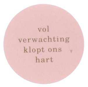 Sticker Vol verwachting mix