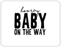 Sticker Hooray baby on the way