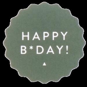 Sticker Happy B-day green