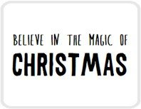 Sticker Believe in the magic of christmas