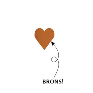 Sticker little heart bronze