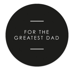 Sticker For the greatest dad