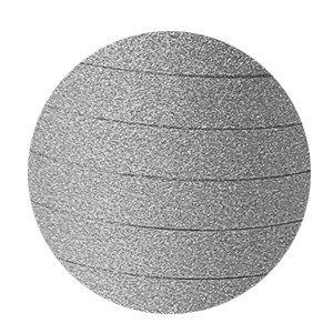 Krullint glitter zilver 10mm