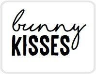 Sticker Bunny kisses