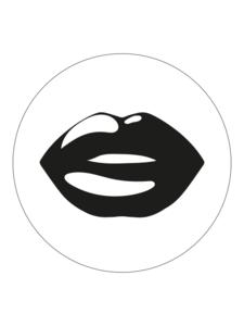 Sticker Lips black