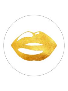 Sticker Lips gold