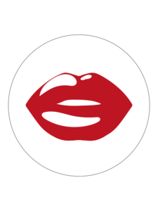 Sticker Lips red