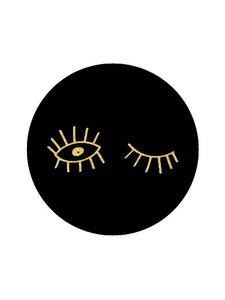 Sticker Eyes black/gold