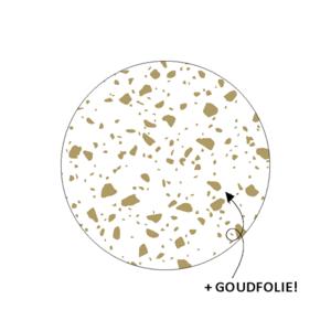 Sticker Spikkels wit/goud