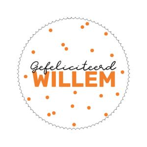 Sticker Gefeliciteerd Willem