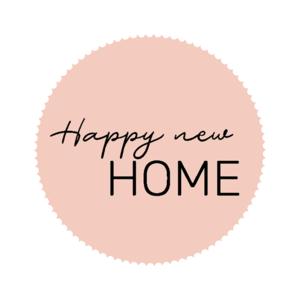 Sticker Happy new home! pink/black