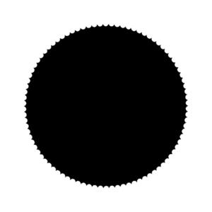 Sticker Zegel mat zwart