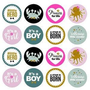 Sticker Newborn assorti