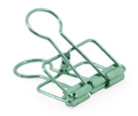 Binder clips medium green
