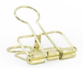 Binder clips medium gold