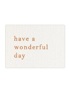 Sticker Have a wonderful day linnen/brons
