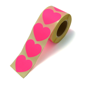 Sticker hart xl neon pink