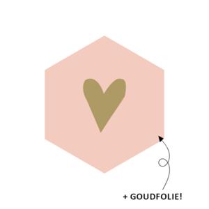 Stickers Hexagon hartje