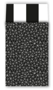 Cadeauzakjes Subtle graphics zwart/wit 17 x 25