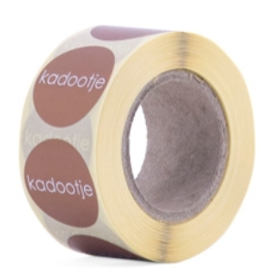 "Sticker ""Kadootje"" brons"
