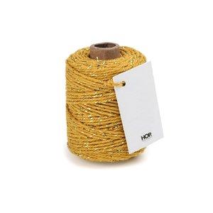 Cotton cord ochre/gold roll