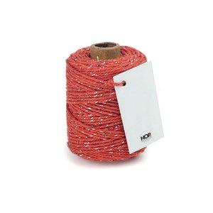 Cotton cord brick/gold roll