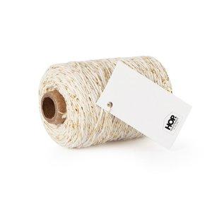 Cotton cord cream/gold roll