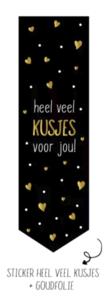 Sticker Vaantje Heel veel kusjes voor jou!