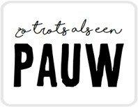 Sticker Zo trots als een pauw
