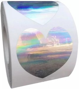 Sticker Holographic heart