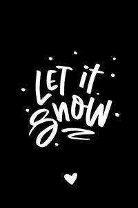 Cadeaulabel Let it snow